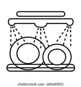 dishwasher icon images stock