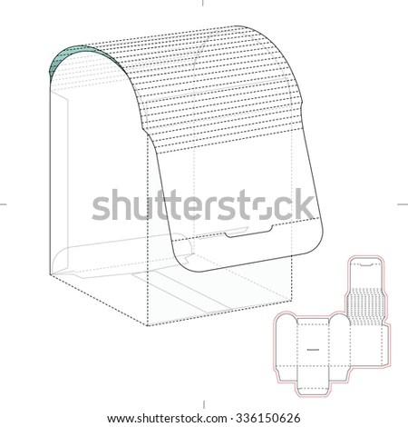 Dispensers Box Die Cut Template Stock Vector (Royalty Free