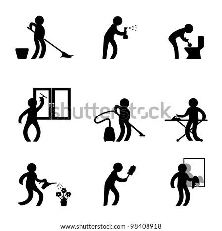 Do Housework Stock Vector (Royalty Free) 98408918