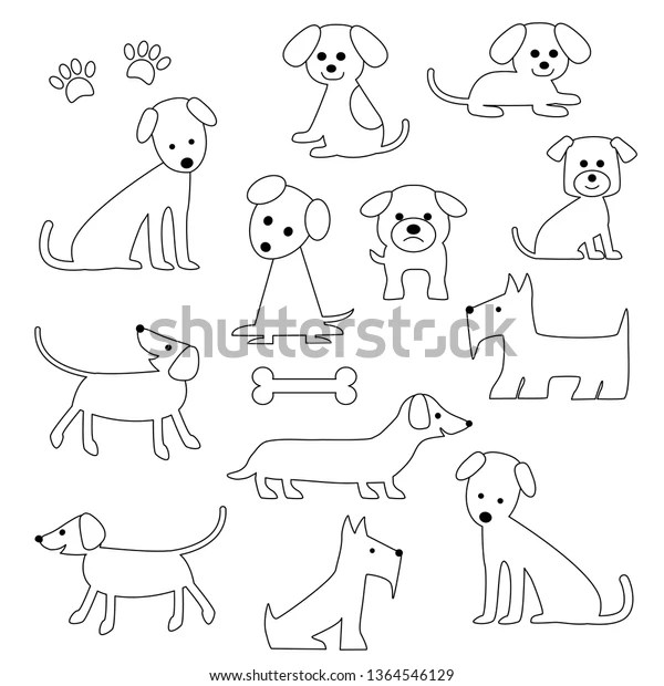dog digital stamps stock