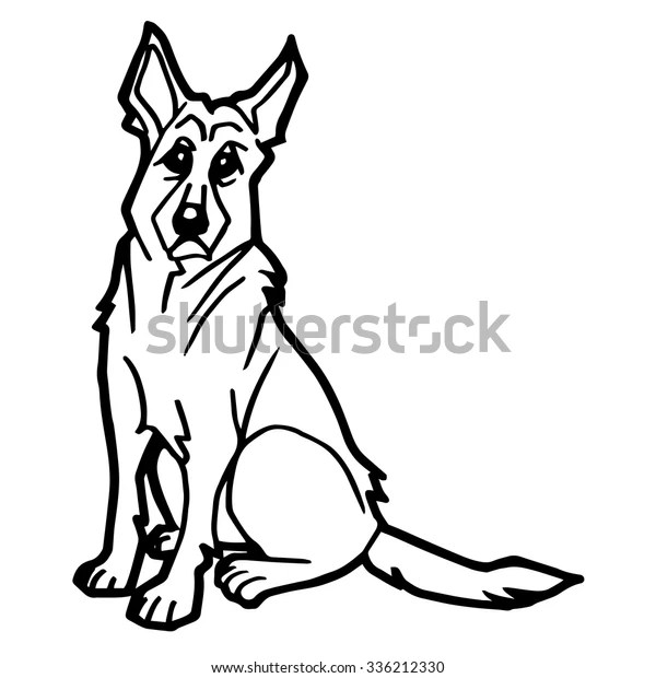 Dog Puppy Coloring Page Vector Stock Vector Royalty Free 336212330
