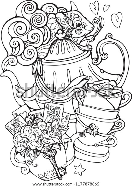 alice in wonderland coloring page # 69