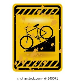 bicycle sign images stock