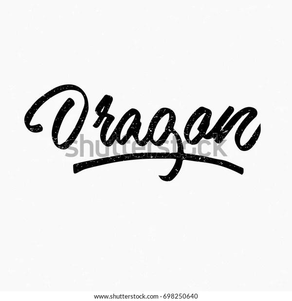 dragon logo ink hand