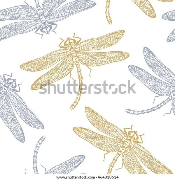 dragonflies pattern vector abstract