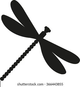 dragonfly silhouette stock