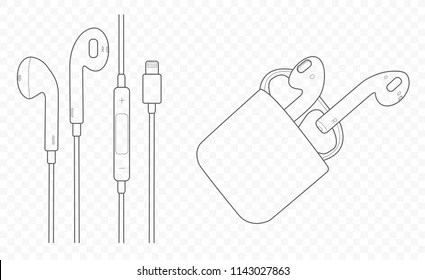 Drawing Earphones Images, Stock Photos & Vectors