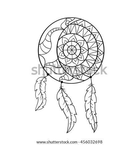 Dream Catcher Symbol Sun Moon Ethnic Stock Vector (Royalty