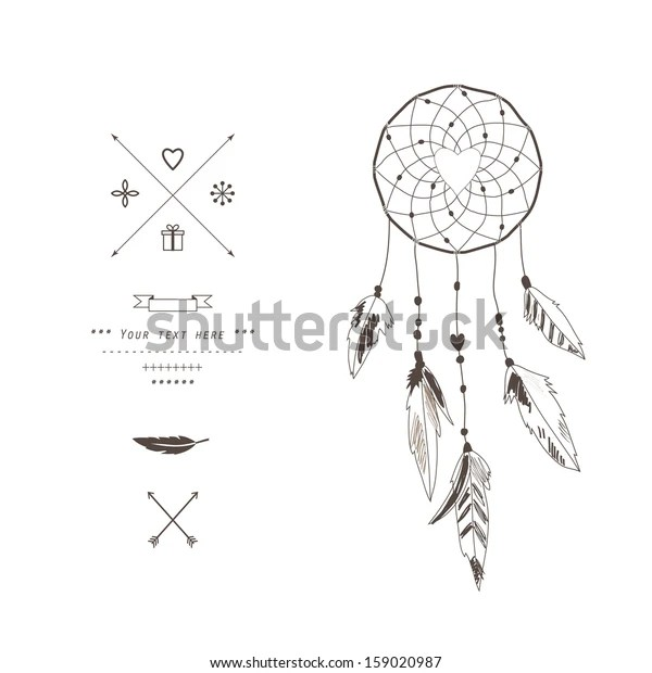 dream catcher vector illustration