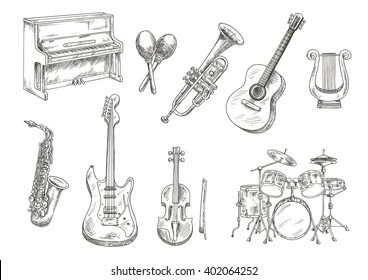 Ancient Musical Instruments Stock Images, Royalty-Free