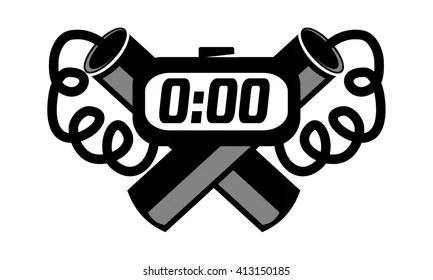 dynamite logo images stock