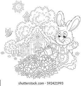 rabbit coloring pages Images, Stock Photos & Vectors