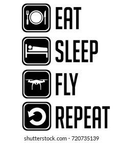 Imágenes, fotos de stock y vectores sobre Eat Sleep