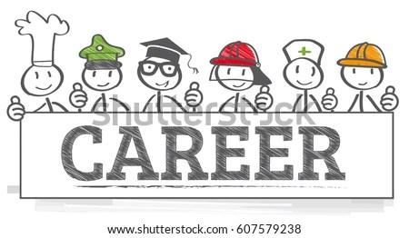 Education Career Choice Options Stock Vector (Royalty Free