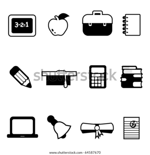Education Icons Stock Vector (Royalty Free) 64587670