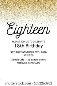 https www shutterstock com image vector eighteen invitation card 18th birthday party 1052263982