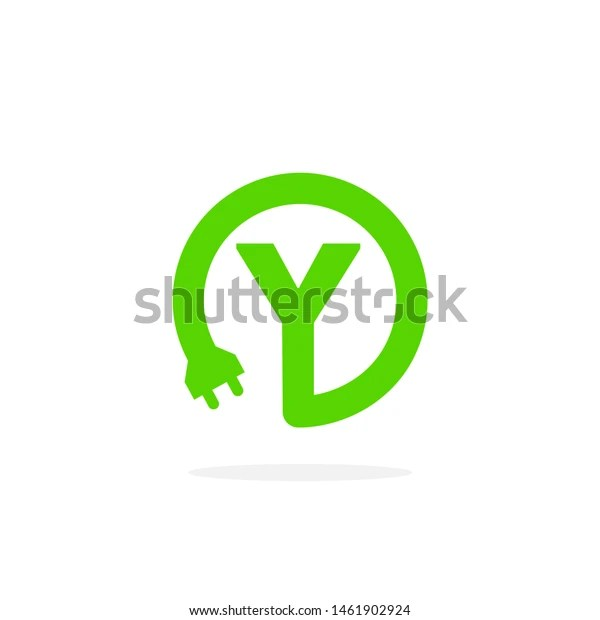 electric charging vector letter