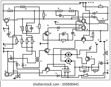 electric circuit diagram Images, Stock Photos & Vectors