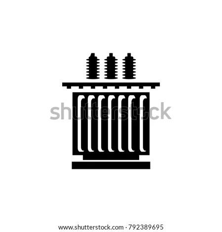 Electric Transformer Icon Vector Illustration Stock Vector