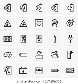 Electric Meter Icon Images, Stock Photos & Vectors