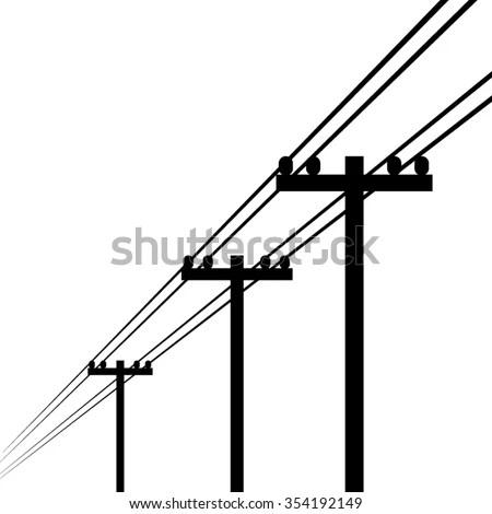 Electricity Pole Vector Stock Vector (Royalty Free