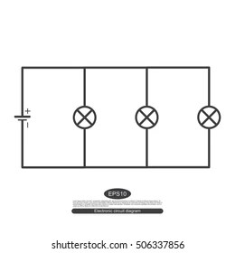 Electric Circuit Symbol Images, Stock Photos & Vectors