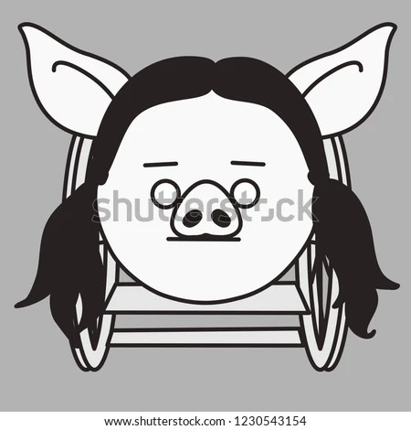 wheelchair emoji garden table and chairs sale uk disabled pig woman that sitting stock vector royalty free with is in a female person disability of legs wheel chair simple hand drawn emoticon