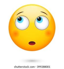 thinking emoji images stock