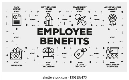 Infographic Vector Employee Benefit Images, Stock Photos