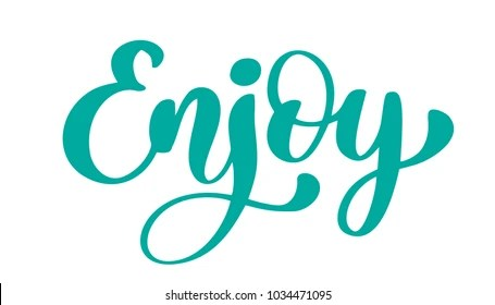 enjoy fonts images stock