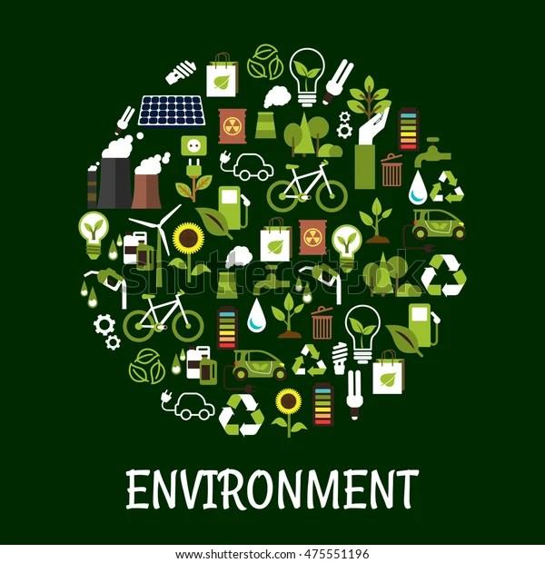 Environmental Ecology Friendly Poster Green Eco Stock Vector (Royalty Free) 475551196