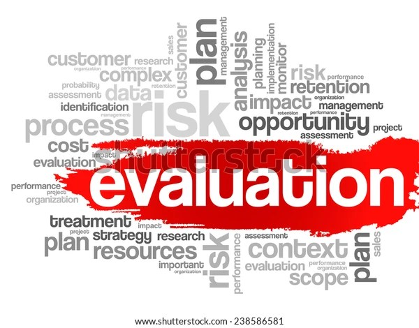 Evaluation Concept Word Tag Cloud Vector Stock Vector (Royalty Free) 238586581