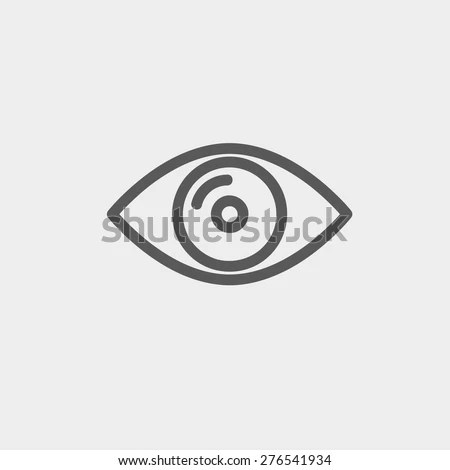 Eye Icon Thin Line Web Mobile Stock Vector (Royalty Free