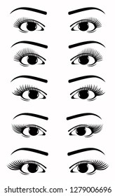 Eyelash Extensions Icon Images, Stock Photos & Vectors