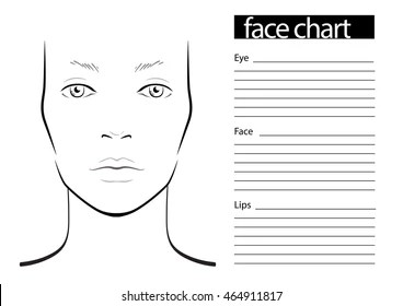 blank face diagram botox 2002 chevy impala ls radio wiring chart makeup artist template stock vector royalty freeface