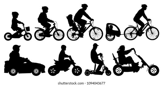 Child Cycle Buggie Images, Stock Photos & Vectors