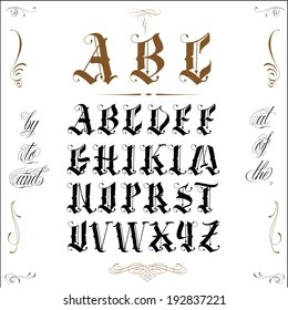 Old English Script Images, Stock Photos & Vectors
