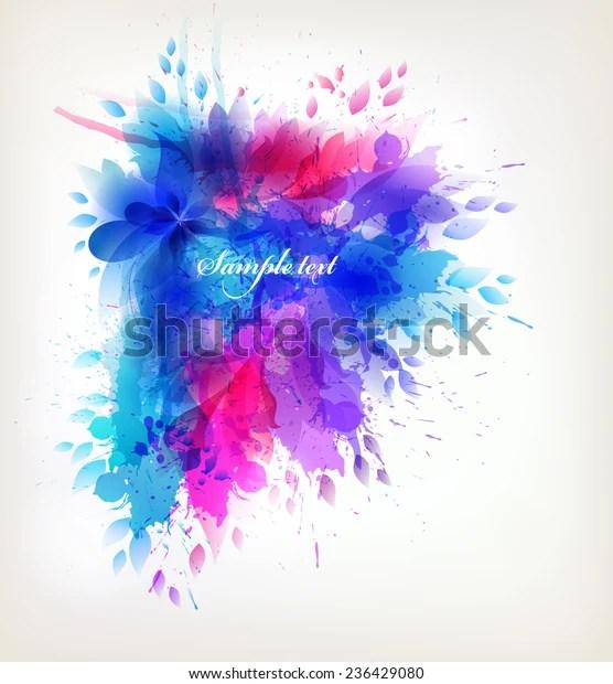 fantasy watercolor vector background