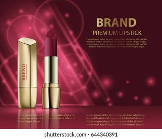 advertising lipstick images stock