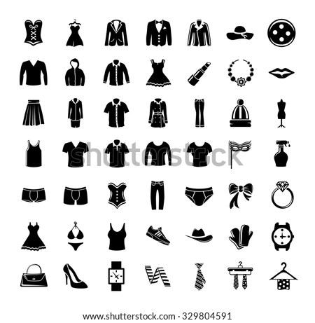 Fashion Icons Collection Stock Vector (Royalty Free