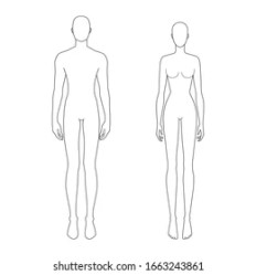 Template Female Body Outline