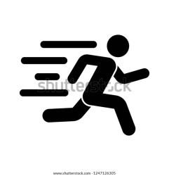 Fast Run Icon Running Icon Vector Stock Vector Royalty Free 1247126305