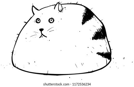 Funny Obese Cartoon Illustration Images, Stock Photos