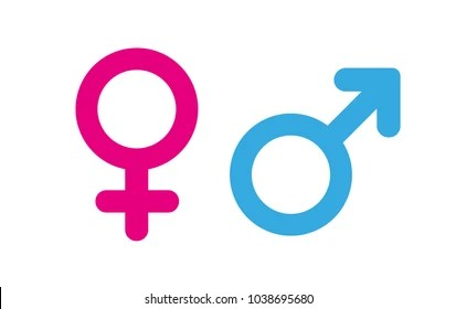 gender symbols images stock