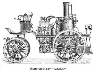 Antique Fire Truck Images, Stock Photos & Vectors
