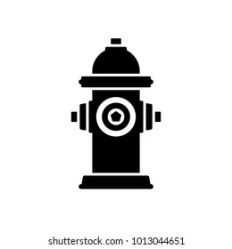 hydrant fire vector icon silhouette shutterstock simple