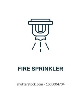 Fire Isolated Sprinkler Head Images, Stock Photos