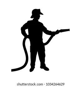 fireman silhouette clip art # 9