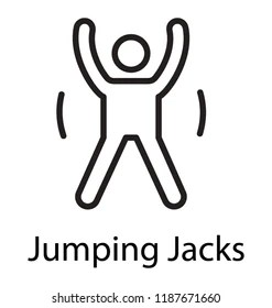 Jumping Jack Exercise Images, Stock Photos & Vectors