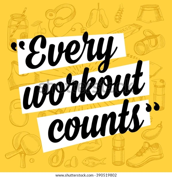 Fitness Motivation Quote Poster Gym Inspirational Stock Vector Royalty Free 390519802